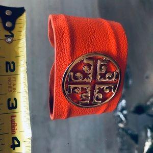 Tory Burch orange cuff
